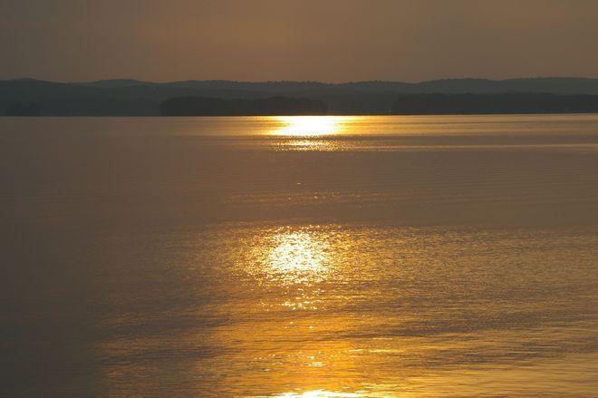 Sunset on Kaminskeg Lake