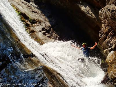 Canyoning at mt Olympus, Greece