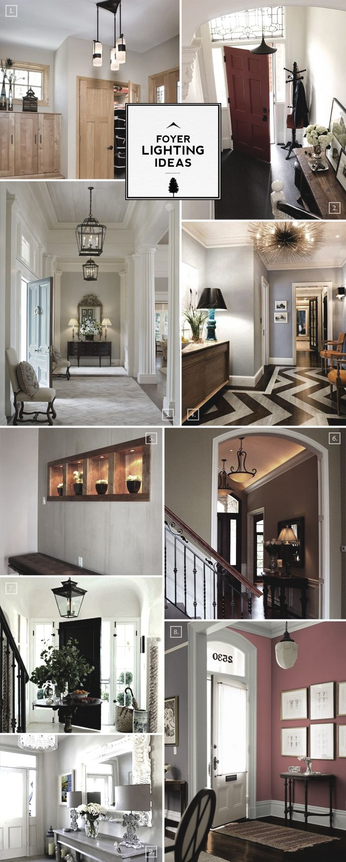 15 Best Collection Of Entrance Hall Pendant Lights: 17 Best Ideas About Small Foyers On Pinterest