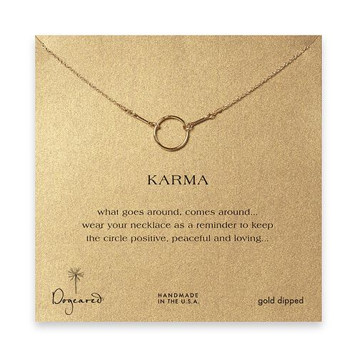 Dogeared makes simple and dainty jewelry. I love this Karma necklace and it makes for a cute gift!