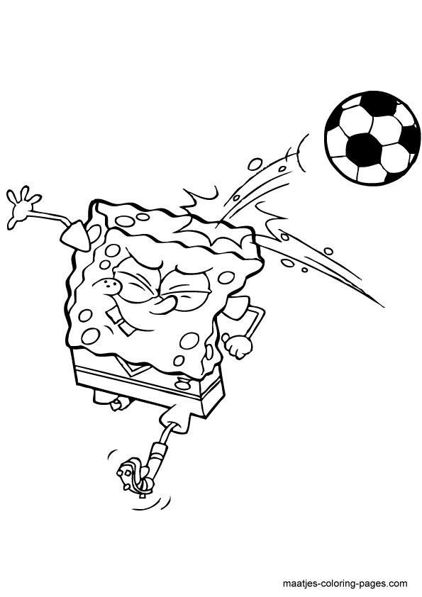 48 best soccer coloring pages images on pinterest | coloring pages ... - Spongebob Coloring Pages Boys