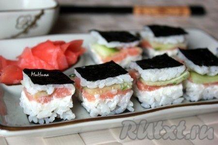 Закусочный суши торт