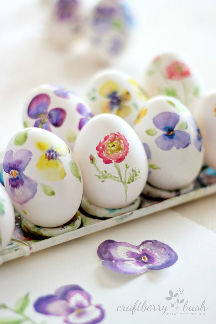 Craftberry Bush: Watercolor eggs