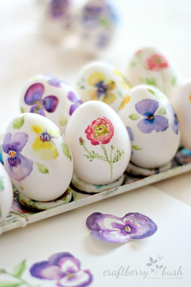 DIY Watercolor Eggs #Easter