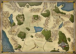 map of Shannara by Troedel