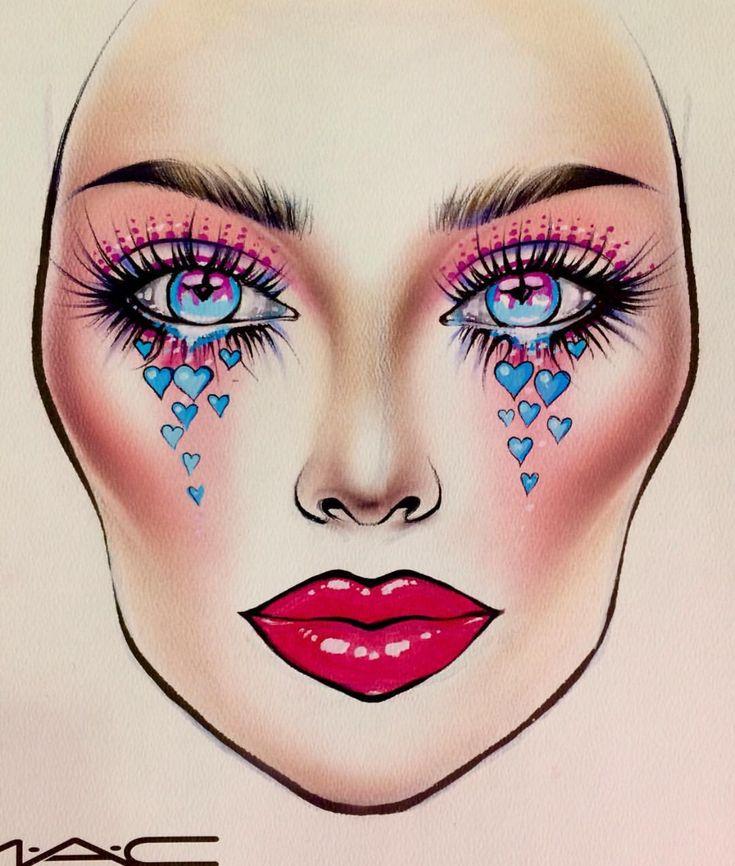 рисунок грима на лице карандашом на изо самых удивительных