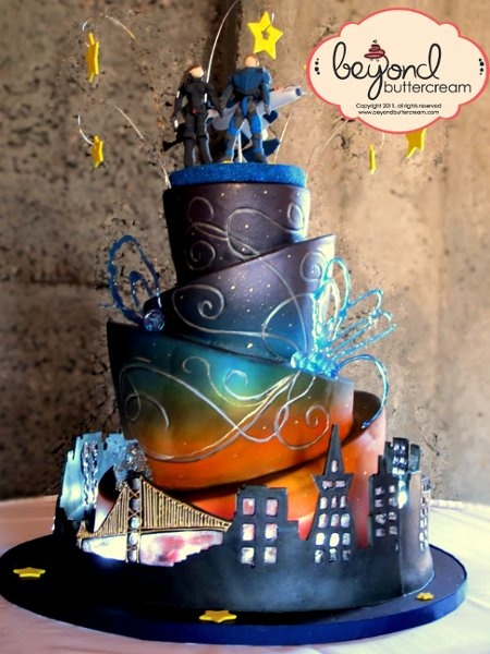 Avant-Garde Hip Informal Black Blue Gold Green Multicolor Purple Red Silver Yellow Buttercream Fondant Groom's Cake Multi-shape Round Topper Wedding Cake Wedding Cakes Photos & Pictures - WeddingWire.com  #ActionFigure #City #Airbrushed #Fondant  #GroomsCake #WeddingCake  #Whimsical #Cute  #Cake #White #Vanilla #Cream #Tiered #Landscape  #Fabulous