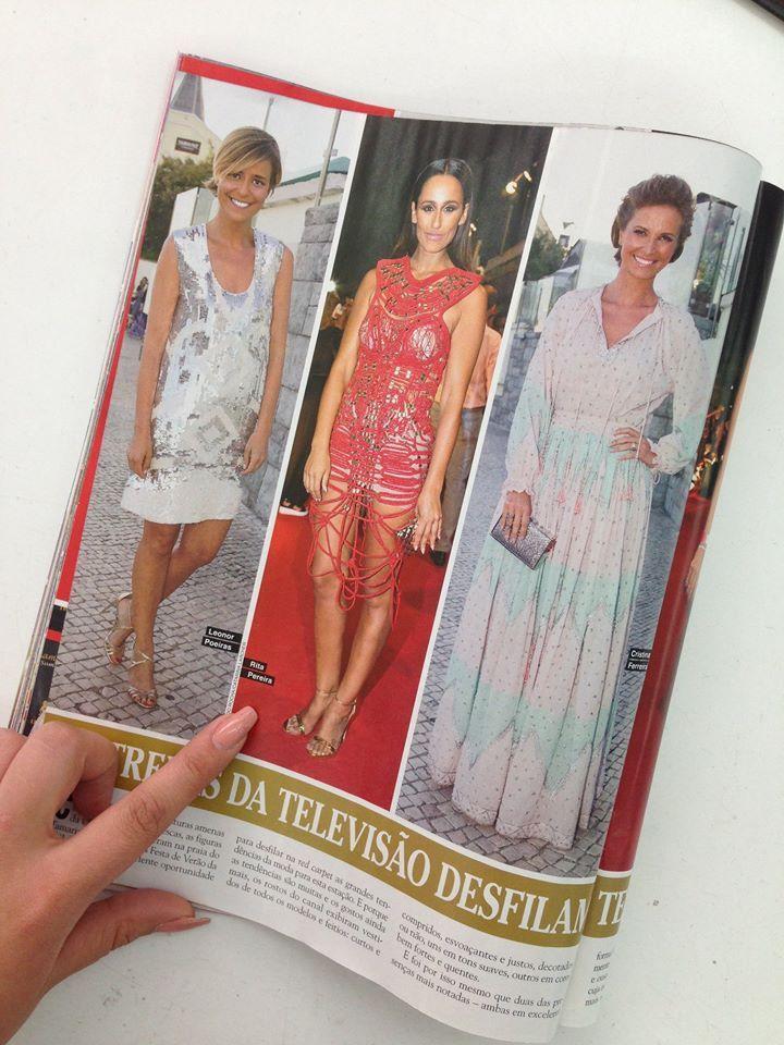 W sukni zaprojektowanej i wykonanej przez studentkę VIAMODA Azrę Nikshiqi dla marki 'Micaela Olivera Atelier' (Porto, Portugalia), gdzie Azra odbywała swój staż wystąpiła znana portugalska aktorkę (Rita Pereira) na TV party. Gratulujemy :)