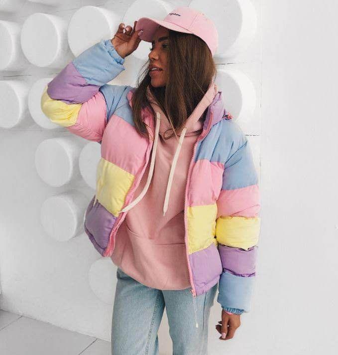 Pastel Padded Jacket,  Palegrunge,  grunge, tumblrclothes, tumblrstyle, tumblroutfit, kawaiistuff,  kawaii, aesthetic, aesthetics aestheticclothes, softgrunge, softgoth, tumblrstore, grungestyle, outfitgoals, outfitidea, boogzel, boogzelapparel, kokopie boots ,jacket, coat, outfit jacket
