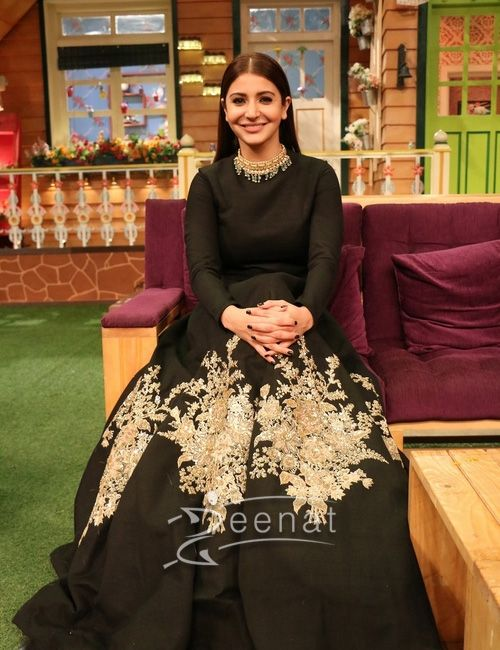 #AnushkaSharma In #Sabyasachi For #AeDilHaiMushkil Promotions