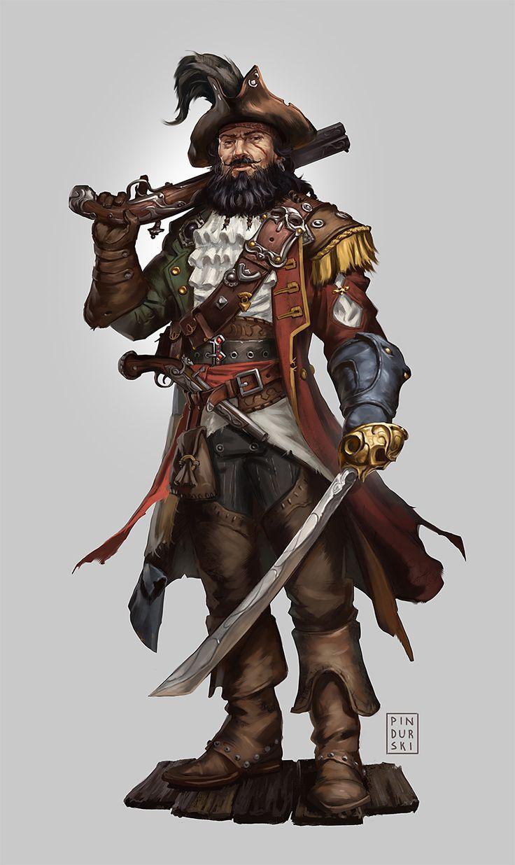 Pathfinder RPG: Vile Admiral, Hugh Pindur on ArtStation at https://www.artstation.com/artwork/xox9O