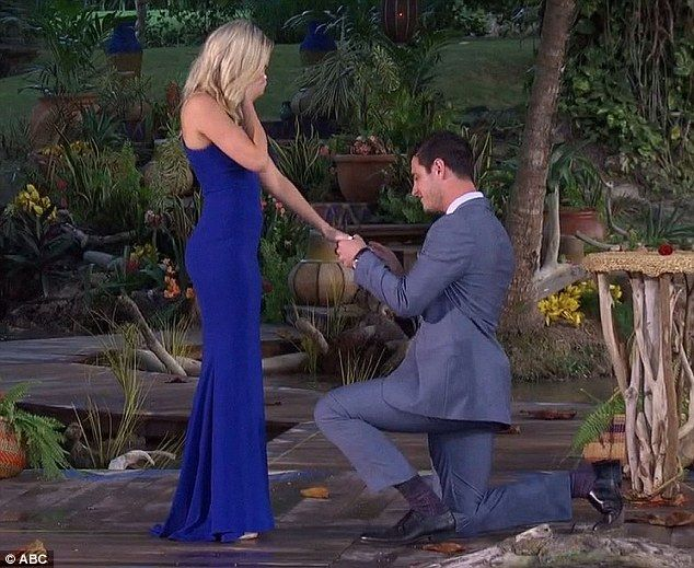 Popping the question: Ben Higgins got engaged to Lauren Bushnell on Monday's season finale of The Bachelor