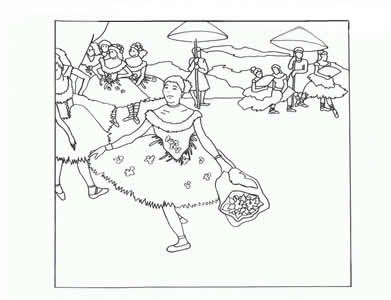 Degas and other impressionist coloring pages art for Impressionist coloring pages