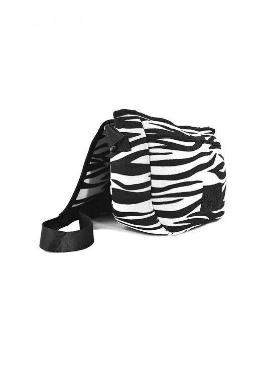BLACK/WHITE ZEBRA NEOPRENE HIGH TECH CROSSBODY