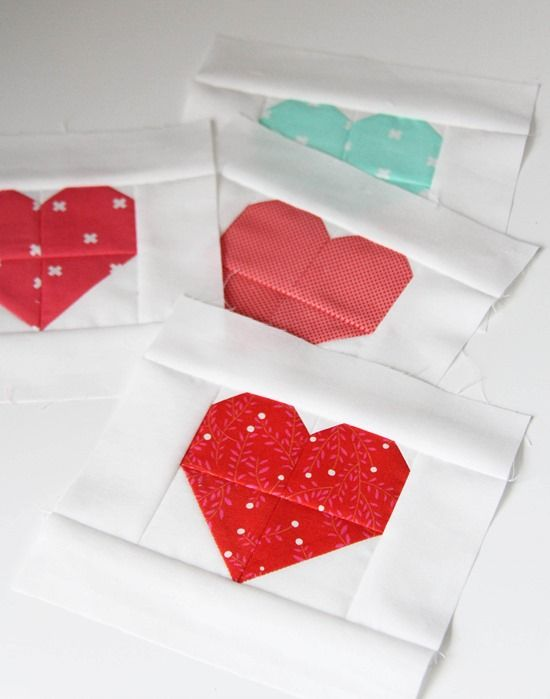For Heart Blocks in Multiple Sizes see this post!I revised this tutorial a bit so the hearts are 2 print pieces instead of 4 as in the quilt above. Now there are less seams!I was going to share …