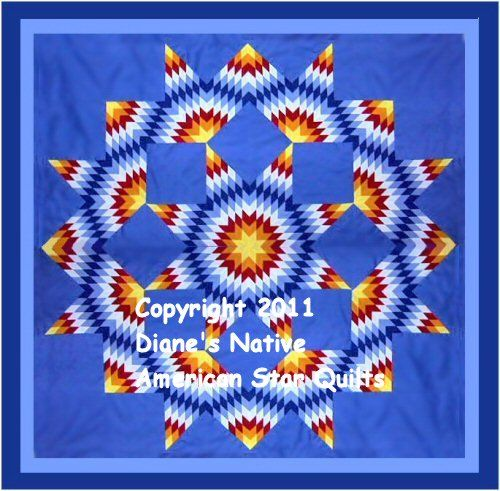 Pretty Little Quilts: Indian Summer Lone Star Quilt |Indian Star Quilts