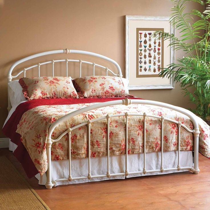 Birmingham Iron Bed by Wesley Allen Cottage White Finish