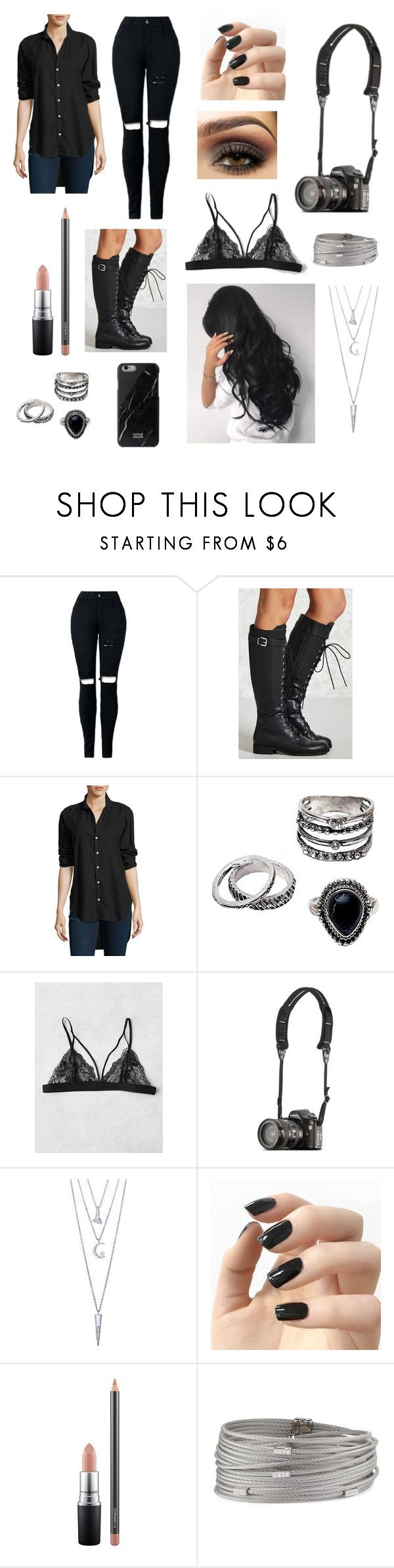 """Edgy work outfit"" by taylor-anne-moore ❤ liked on Polyvore featuring Forever 21, Frank & Eileen, BERRICLE, Incoco, MAC Cosmetics and Alor"