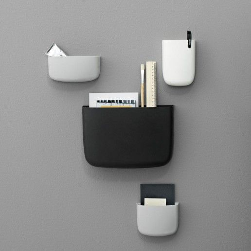 Great idea to use with MagScapes magnetic wallpaper and magnets. NORMANN COPENHAGEN Pocket Organiser Black - 3 sizes
