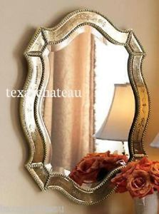 Large Antique Gold Silver Venetian Arch Mirror Shabby French Chic Horchow | eBay