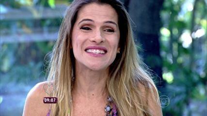 Ingrid Guimarães elogia novo 'shape' de André Marques: 'Está pegável, hein!' - notícias em O programa - Mais Você