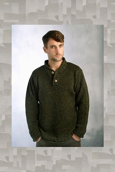 Made in Ireland from Donegal Tweed wool is our new Donegal Tweed 2 Button  Sweater. This Donegal Tweed Sweater has a 2 button Closure at neck and is  both ...