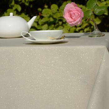 Nappe enduite en coton Paillettes Dorées - @fleurdesoleil chez Pure deco