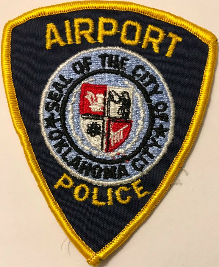Details about oklahoma city airport police patch