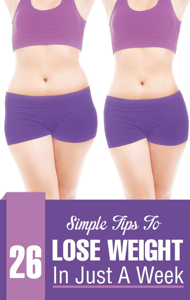 How To Lose Weight In Just A Week - 23 Simple Tips