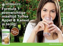 Herbalife: Formule 1 toffee, appel- en kaneelsmaak