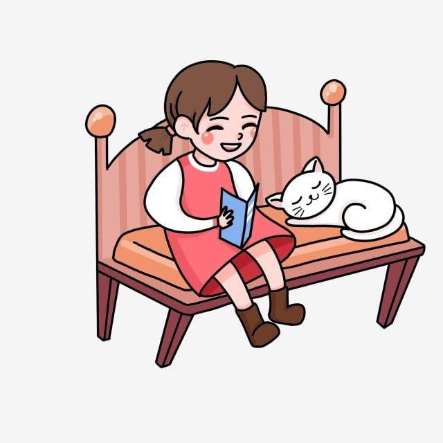 Diseno De Personajes Dibujos Animados Nina Sentado En Una Silla Leyendo Un Libro Personaje De Dibujos Animados Dibujos Animados Dibujado A Mano Png Y Psd Par Ninos Dibujos Animados Diseno De