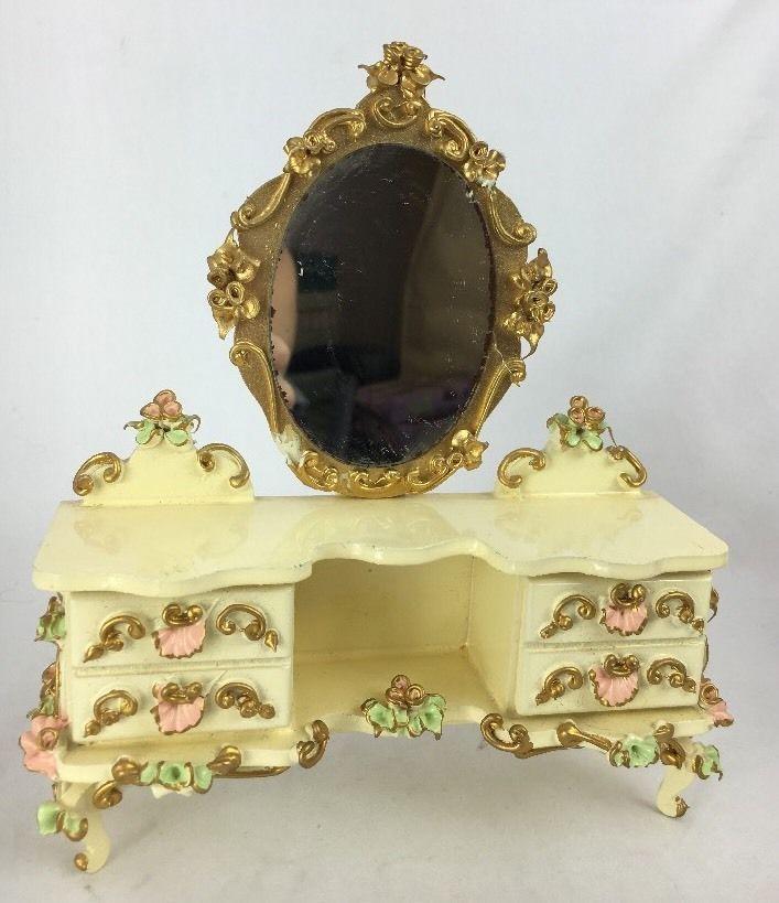 Beautiful Spielwaren Dollhouse Miniature Dresser Chest Mirror Boutique Szalasi | eBay