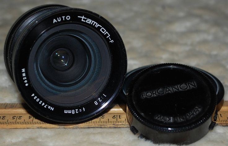 Tamron-F 28mm F/2.8 Canon FD Lens Mount and case by ourPastourFuture on Etsy