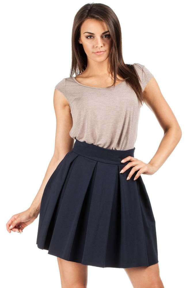 Dark blue women's skirt length mini