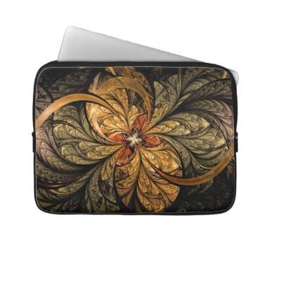 Shining Leaves #Fractal #Art #Laptop #Sleeve #electronics #tech   $29.60