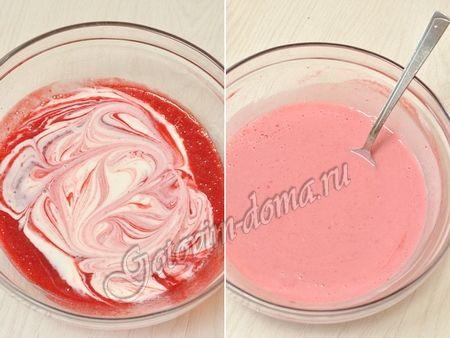 Малиновое мороженое (с йогуртом) фото 4