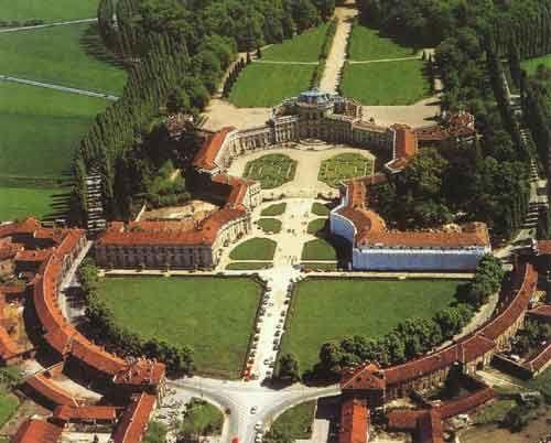 Filippo Juvarra. Air view, Stupinigi. Turin 1729-33 #architecture