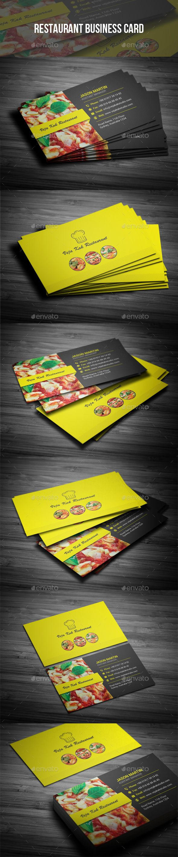 Restaurant Business Card Industry Specific Business