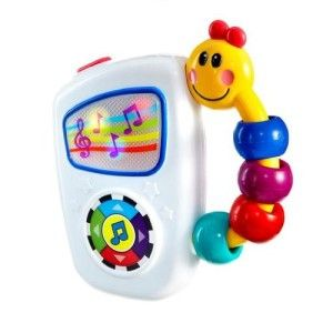 """Baby Toys: Baby Einstein Take Along Tune There are 7 baby friendly classical melodies. It has volume control. The colorful and easy to grasp Caterpillar handle ensures that baby can """"take along tunes"""" anywhere. It also promotes auditory development and music appreciation. http://bit.ly/1t80Zud"""