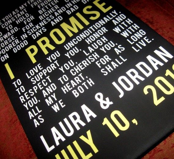 Gay Wedding Marriage Gift Union LGBT Vows by GeezeesCustomCanvas, $130.00