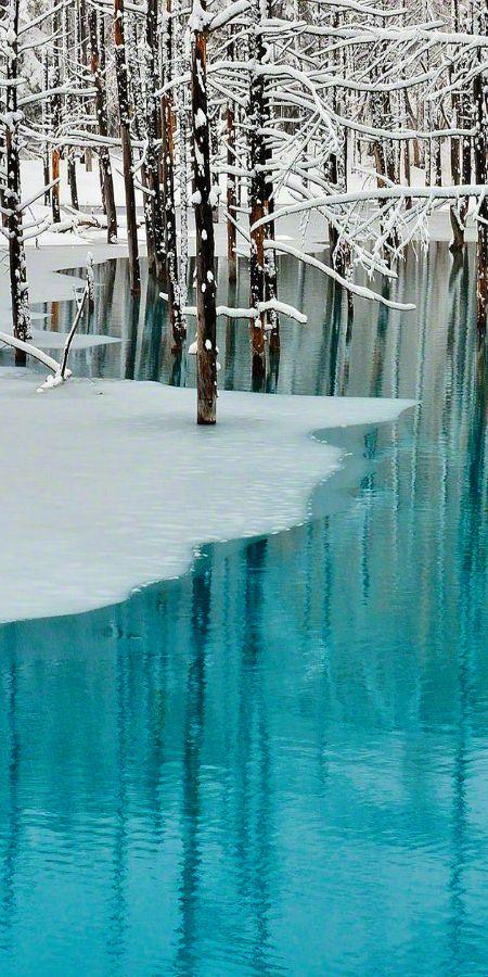 ♥Beautiful aqua white winter♥