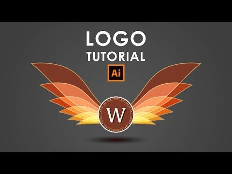 How I create a Wings Logo - Illustrator Tutorial - YouTube