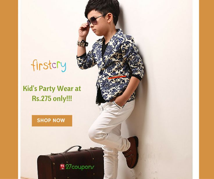 Unbelievable....Kids party wear dresses only at Rs.275 at #firstcry #27coupons #Fashion #kidsfashion For more details please visit 27coupons.com