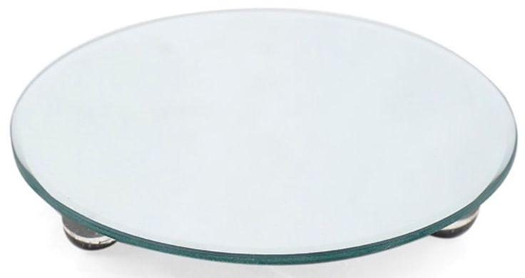 Centerpiece Mirrored Plate Glass Mirror Plate Raised Centerpiece  #CbDesigns