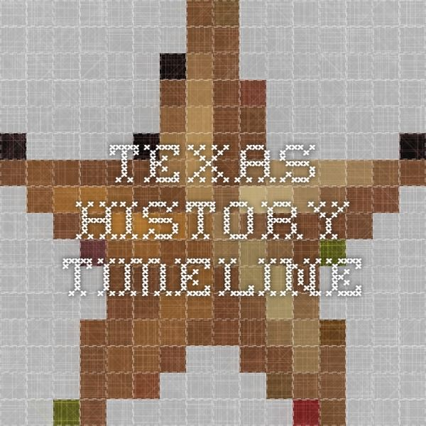 Texas History Timeline                                                                                                                                                     More