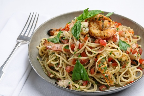 Linguini with Fresh Seafood, Parsley and Herbs from http://dnleslie ...