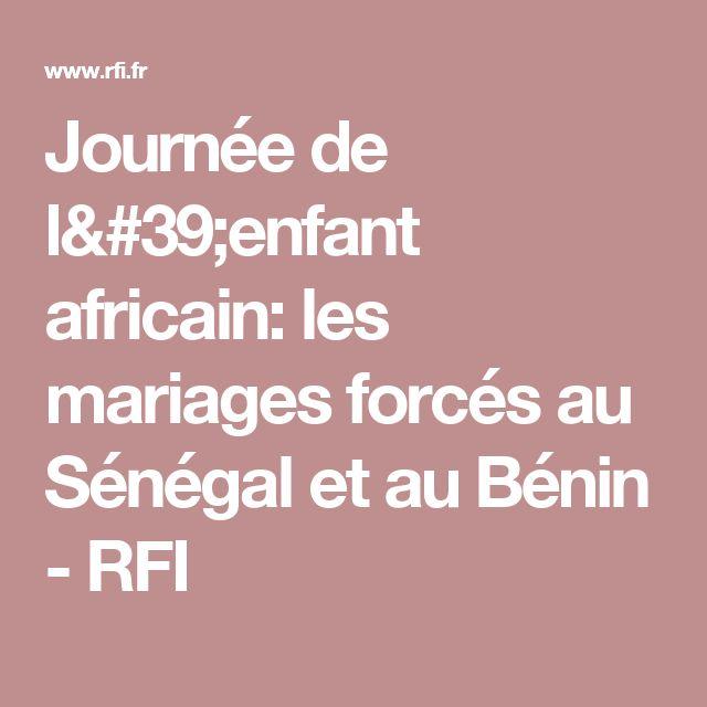 Journée de l'enfant africain: les mariages forcés au Sénégal et au Bénin - RFI