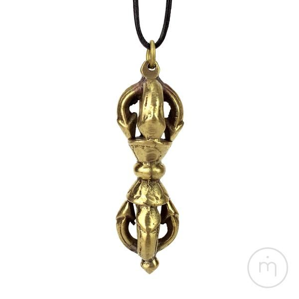 Fairtrade Nepalese Brass Buddhist Vajra / Dorje Pendant