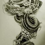 Oriental Dragon Tattoo Style (18)
