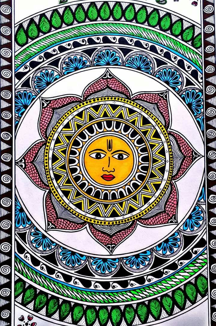 les 216 meilleures images du tableau amazing madhubani sur pinterest peintures indiennes. Black Bedroom Furniture Sets. Home Design Ideas